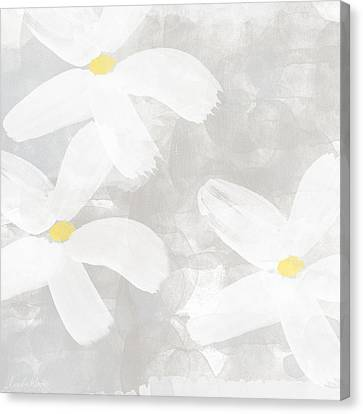 Soft White Flowers Canvas Print by Linda Woods