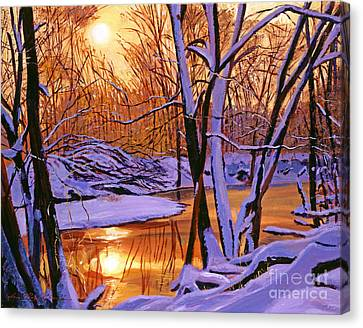 Soft Winter Light Canvas Print by David Lloyd Glover