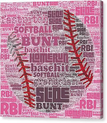 Softball  Canvas Print by Brandi Fitzgerald