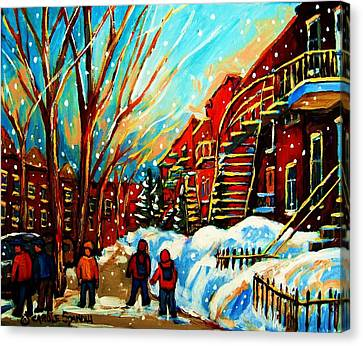 Softly Snowing Canvas Print by Carole Spandau