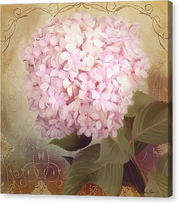 Softly Summer - Hydrangea Canvas Print by Audrey Jeanne Roberts