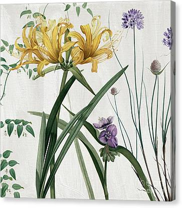 Softly Yellow Lilies  Canvas Print by Mindy Sommers