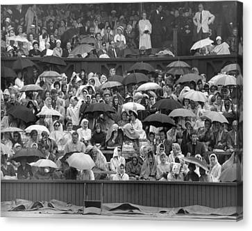 Soggy Supporters Canvas Print by Ron Stone