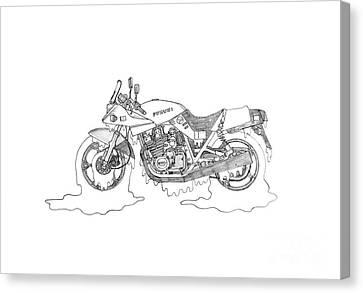 Soggy Suzuki Katana Canvas Print