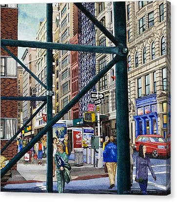 Soho Area New York Canvas Print