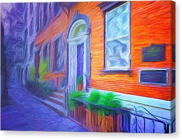 Soho Sidewalk Canvas Print