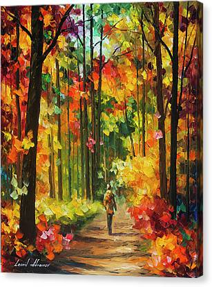 Soild Fall  Canvas Print by Leonid Afremov