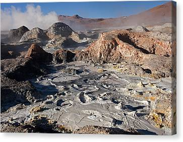 Sol De Manana Geothermal Field  Canvas Print