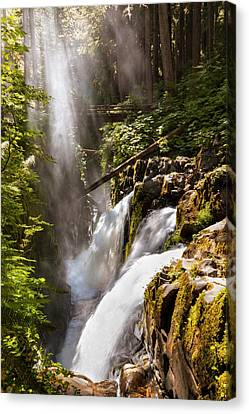 Canvas Print featuring the photograph Sol Duc Falls by Adam Romanowicz