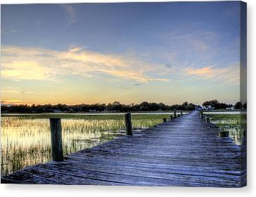 Sol Legare Sunset Canvas Print by Dustin K Ryan