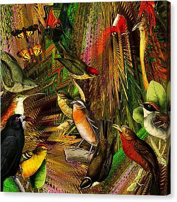 Solar Birds Of Paris Canvas Print