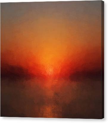 Solar Departure Canvas Print by Lonnie Christopher