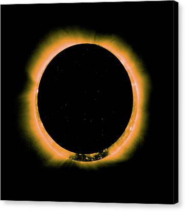 Canvas Print - Solar Eclipse By Hinode Observes, Nasa 5 by Celestial Images