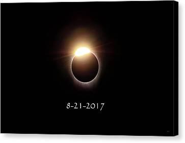 Solar Eclipse Diamond Phase Canvas Print