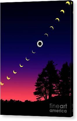 Solar Eclipse Canvas Print by Larry Landolfi