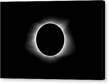 Totality Canvas Print - Solar Eclipse Ring Of Fire by Lori Coleman