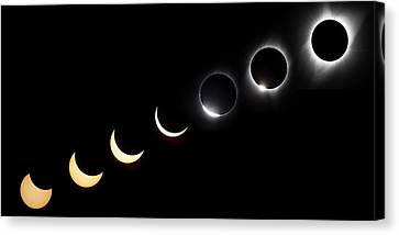 Sunflare Canvas Print - Solar Eclipse Sequence by Peter Irwindale