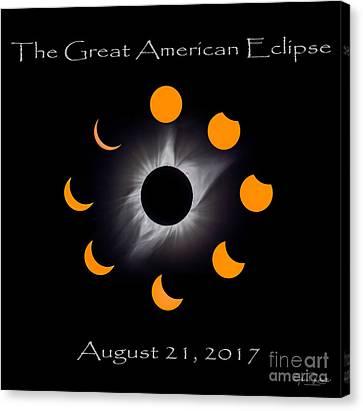 Solar Eclipse Stages Canvas Print