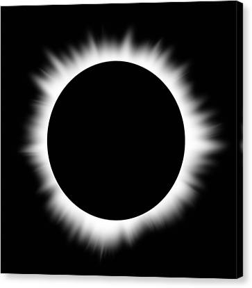 Solar Eclipse With Corona Canvas Print by Don Farrall