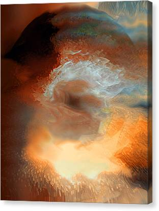 Energy Art Movement Canvas Print - Solar Eruption by Linda Sannuti