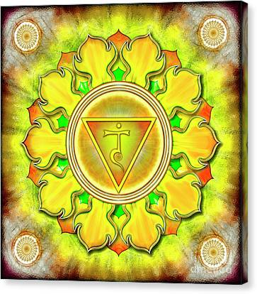 Chakra Therapy Canvas Print - Solar Plexus Chakra - Series 3 by Dirk Czarnota
