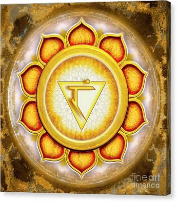 Chakra Therapy Canvas Print - Solar Plexus Chakra - Series 5 by Dirk Czarnota