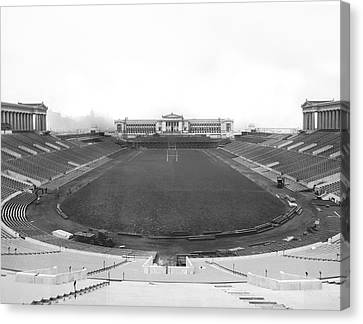 Soldier Field In Chicago Canvas Print by Underwood Archives