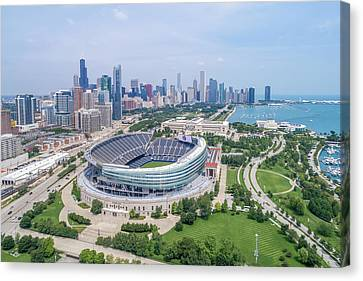 Canvas Print featuring the photograph Soldier Field by Sebastian Musial