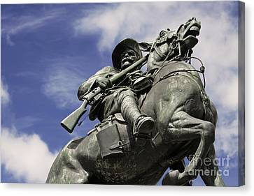 Soldier In The Boer War Canvas Print by Stephen Mitchell