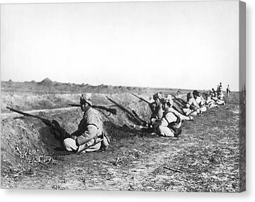 Artillery Canvas Print - Soldiers At Tientsin Beseiged by Underwood Archives