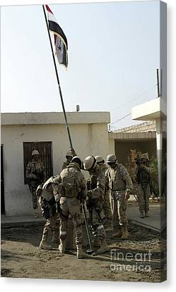Soldiers From The Iraqi Special Forces Canvas Print by Stocktrek Images