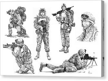 Soldiers Canvas Print by Murphy Elliott