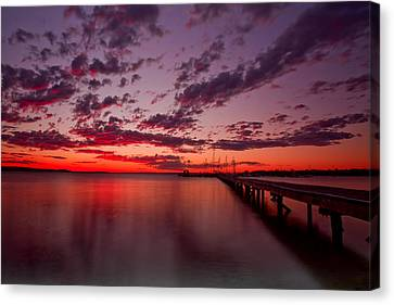 Soldiers Point Sunset Canvas Print by Paul Svensen