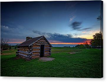 Soldier's Quarters At Valley Forge Canvas Print by Rick Berk