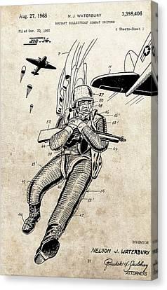 Soldier's Vest Patent Canvas Print by Dan Sproul