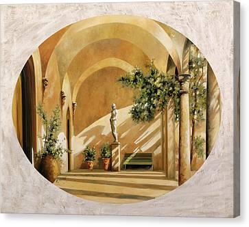 Sole Tra Gli Archi Canvas Print by Guido Borelli