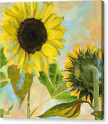 Soleil I Sunflower Canvas Print by Mindy Sommers