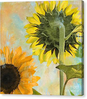 Soleil II Sunflower Canvas Print by Mindy Sommers