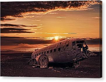 Solheimasandur Plane Crash Canvas Print