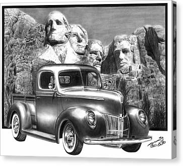 Solid As A Rock Canvas Print by Peter Piatt