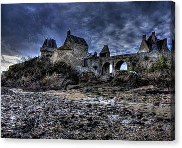 Solidor At Dusk Before A Storm Canvas Print by Karo Evans