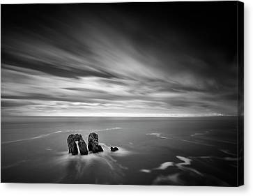 Solitary Conversation  Canvas Print by Dominique Dubied