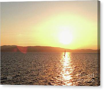 Solitary Sailboat Canvas Print