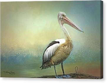 Canvas Print featuring the photograph Solitary by Wallaroo Images