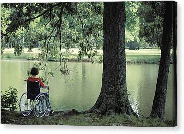 Solitude And The Lonely Heart Canvas Print by Carl Purcell