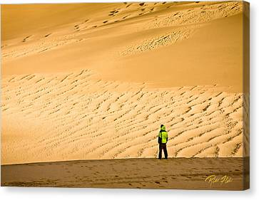 Canvas Print featuring the photograph Solitude In The Dunes by Rikk Flohr