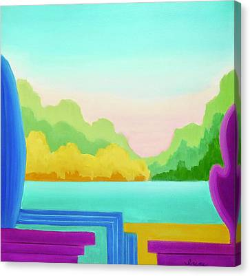 Canvas Print featuring the painting Solitude by Irene Hurdle