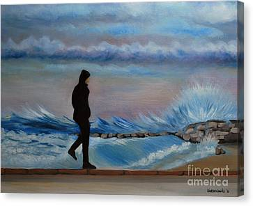 Solitude Canvas Print by Kostas Koutsoukanidis