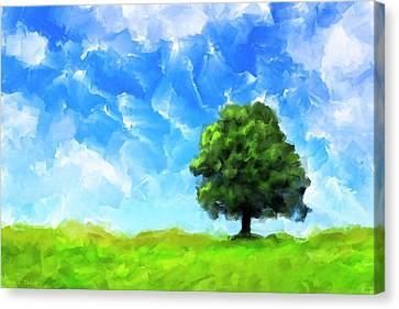Solitude - Lone Tree Landscape Canvas Print