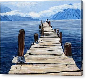 Crooked Dock  Canvas Print